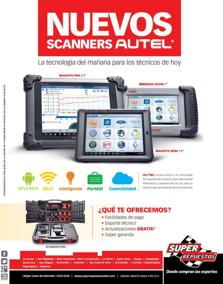 new scanners AUTEL technology - 19nov14