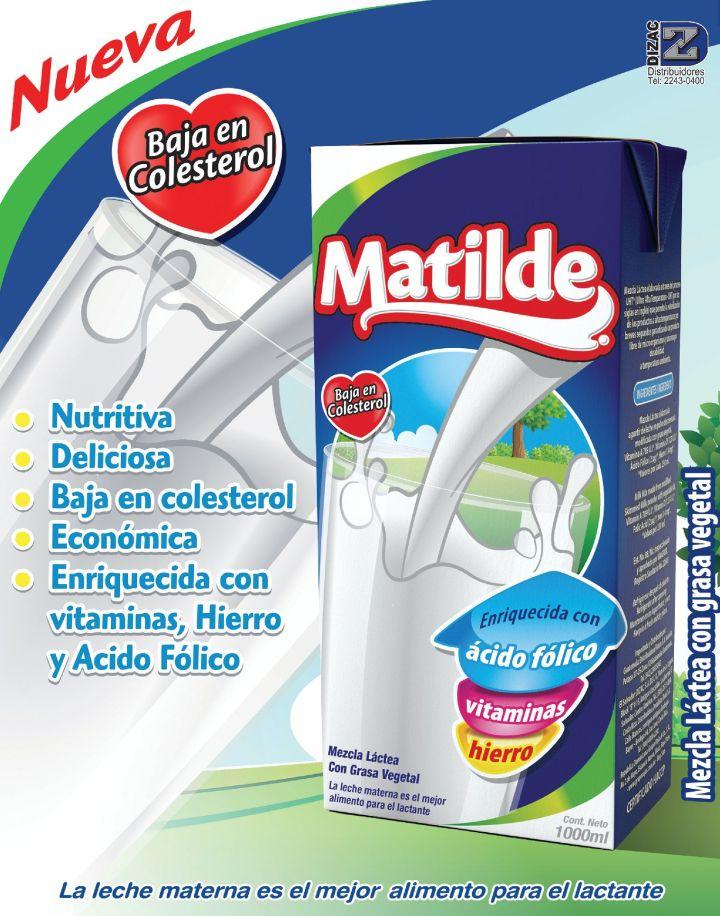 nueva leche MATILDE baja en colesterol