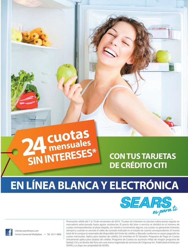 productos electronicos y linea blanca SEARS descuentos - 07nov14