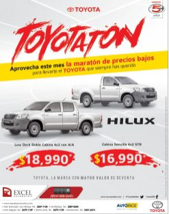 promociones pickup TOYATON - 20nov14