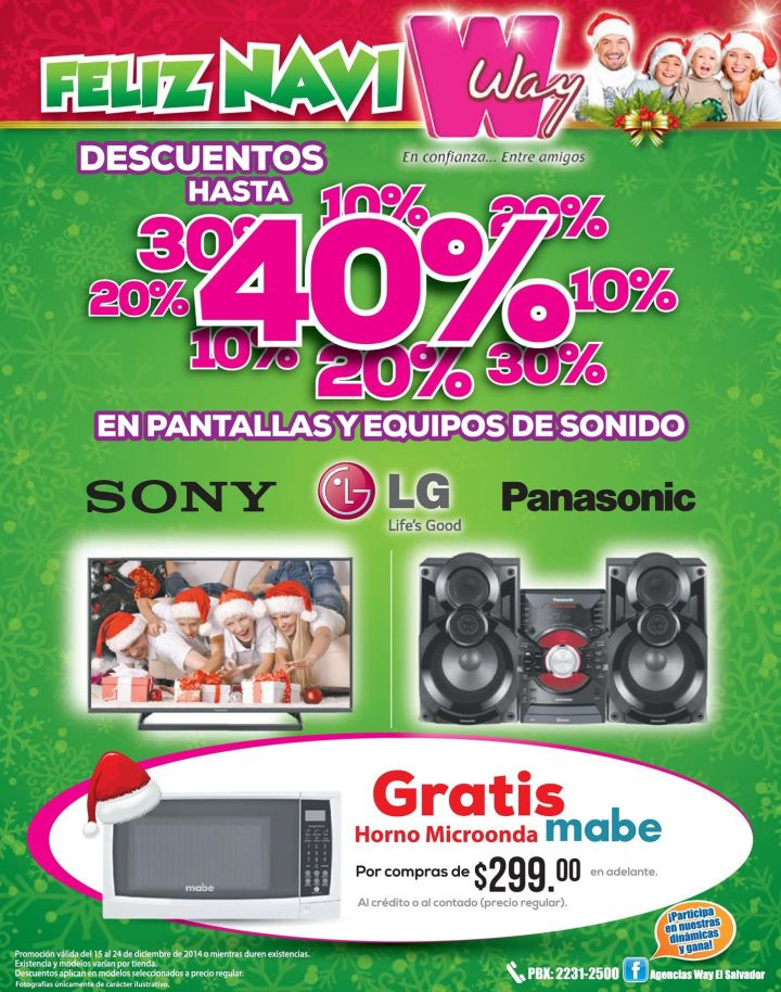 Audio and Video DISCOUNTS agencias WAY merry christmas - 15dic14