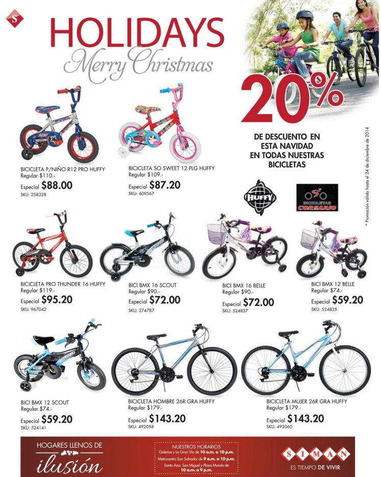 BYCICLES promotions for kids and teens - 18dic14
