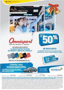 Banco Agricola DESCUENTO hasta 50 OFF en omnisport - 18dic14