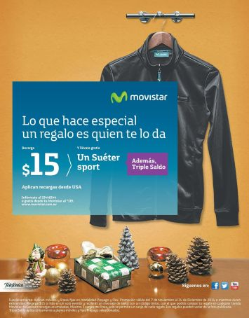 Chaqueta GRATIS en navidad por tus recargas MOVISTAR - 24dic14