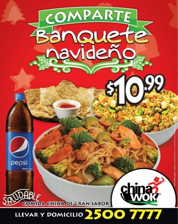 Como china a domicilio CHINA WOK christmas combo - 22dic14