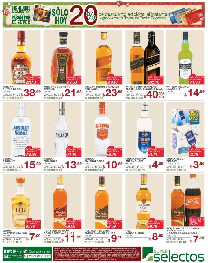 Disfrutas tus fiestas con ofertas de bebidas selectos - 13dic14