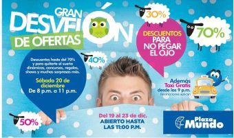 GRAN DESVELON de ofertas plaza mundo soyapango - 19dic14