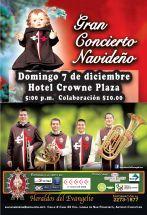 Gran concierto navideno HOTEL CROWE PLAZA