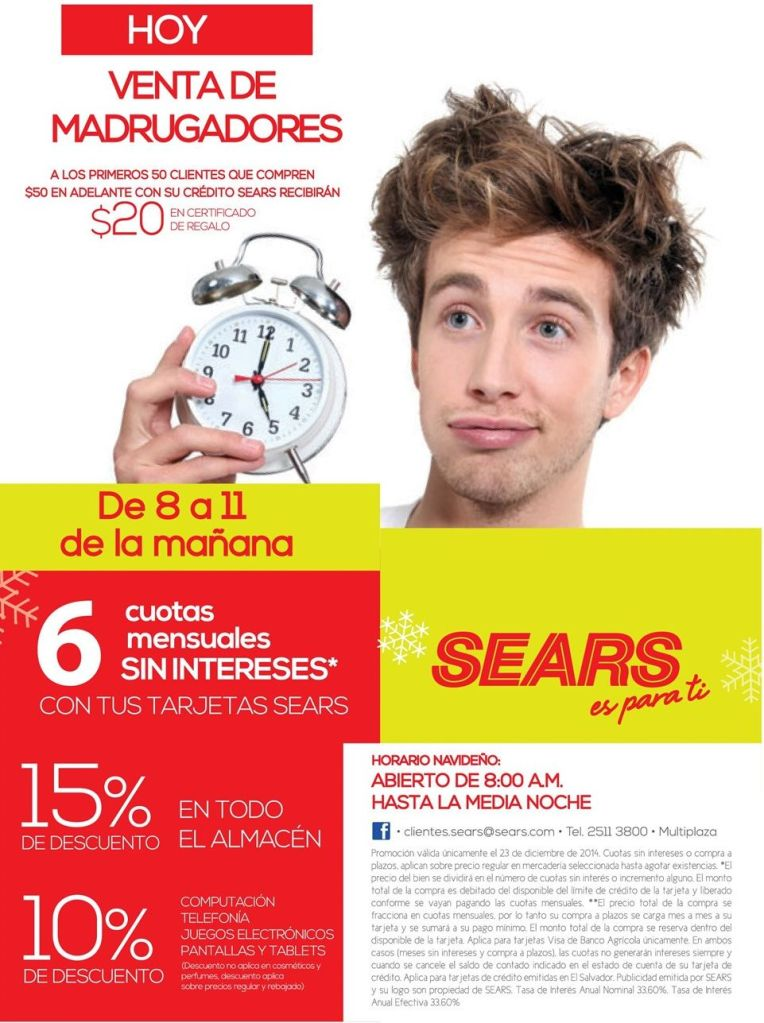 HOY venta de madrugones - 23dic14
