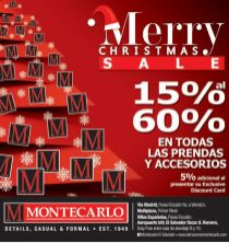 Merry Christmas SALE gentleman wearing