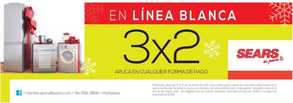 Promociones LINEA BLANCA 3x2 sears