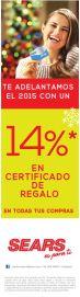 SEARS certificado de regalo promociones - 30dic14