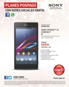 SONY XPERIA Z1 compact smartphone - 23dic14