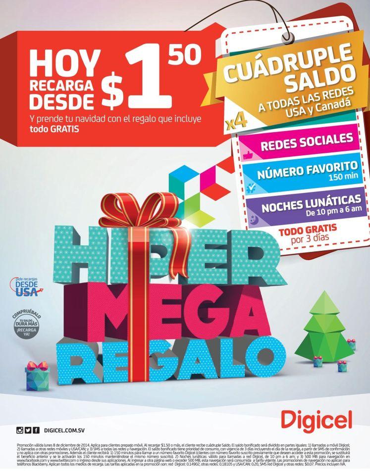 SUPER MEGA recarga DIGICEL promociones - 08dic14