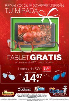 TABLET gratis por tus compras optica LA CURACAO - 05dic14