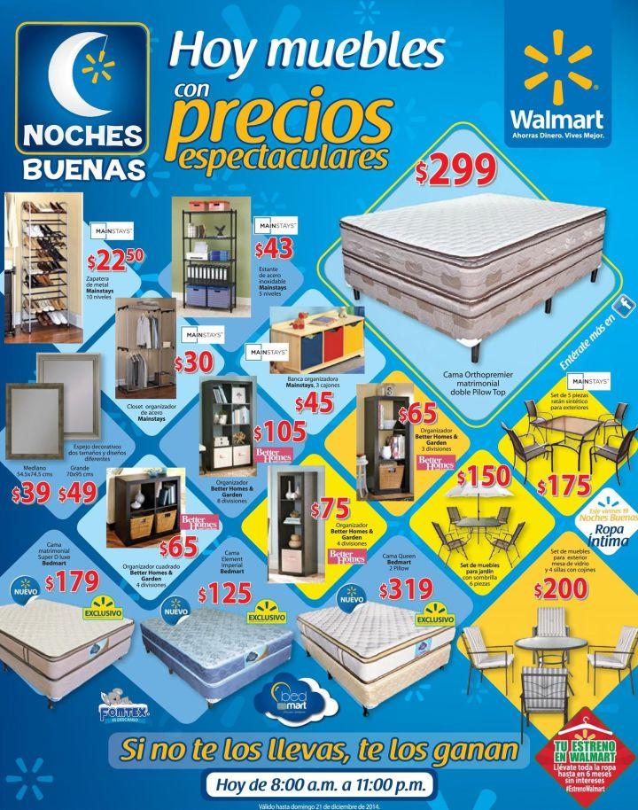 TODAY muebles ofertas nocturnas WALMART - 15dic14