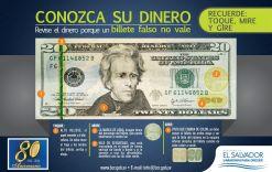 como identificar billetes falsos de 20 dolares