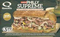 new PHILLY Supreme sandwiche QUIZNOS - 01dic14