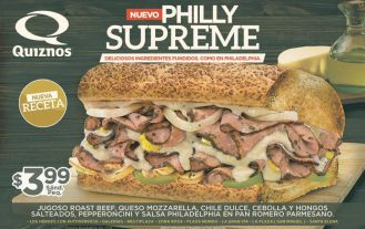 new PHILLY Supreme sandwiche QUIZNOS - 01dic14