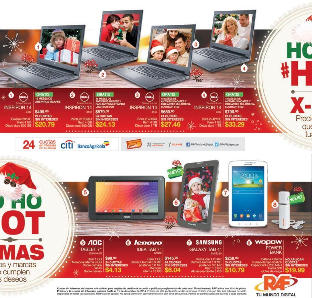 ofertas Laptops DELL INSPIRON tiendas RAF - 03dic14