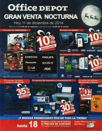 telefonos tablet computadoras OFFICE DEPOT night sale - 11dic14