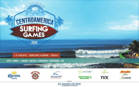 travel to centroamerica SURFING GAMES 2014 beach La Paz el salvador