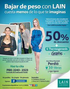 Ana Vilma Marchelli bajo de peso con LAIN