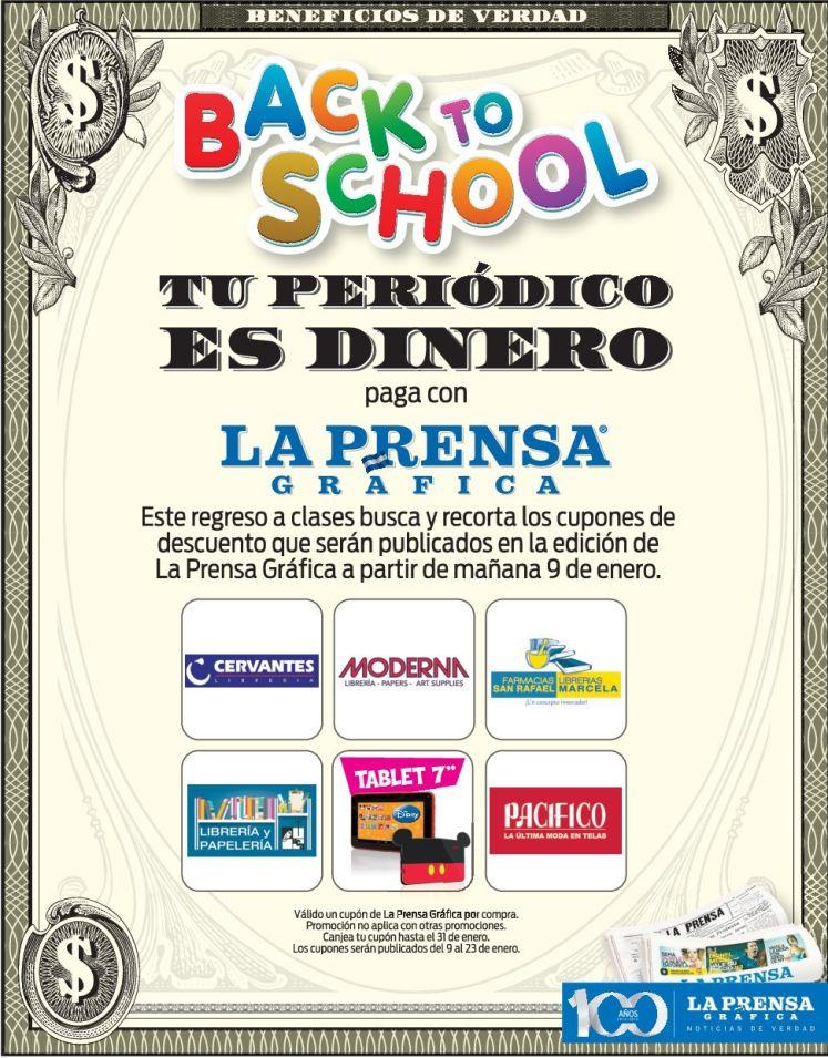 Back to School CUPONES de descuento de la prensa grafica