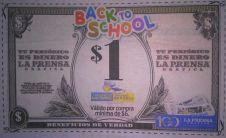 CUPON de un dolar en librerias y farmacia - 13ene15