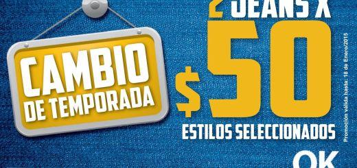 Change of SEASON jeans store OK promotion - 10ene15