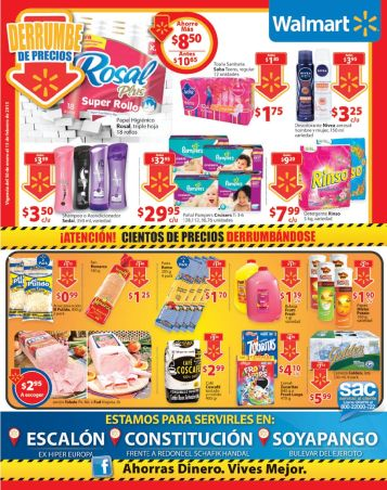 Cientos de productos PRECIO BAJO solo en WALMART - 30ene15