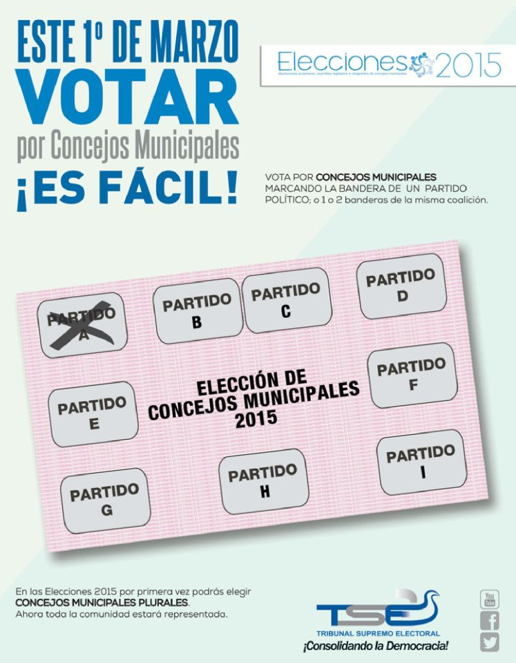 Como votar por consejos municipales 2015