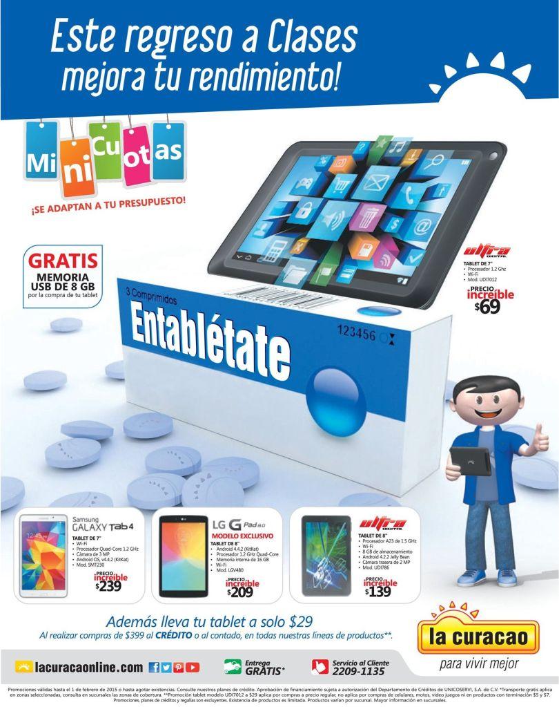 Compra tu tablet para las clases del colegio LA CURACAO - 28ene15