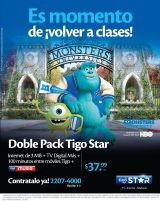 Doble Pack TIGO STAR internet ,as TV digital