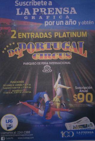 Entradas para el CIRCO de PORTUGAL