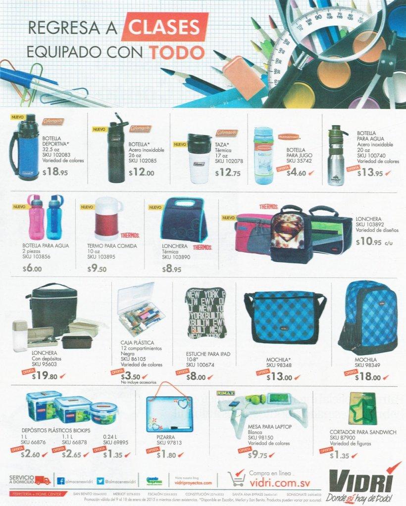 Equipa tu mochila con ferreteria VIDRI - 09ene15
