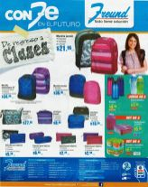 FREUND College accesories BACK PACK recipe and more - 16ene15