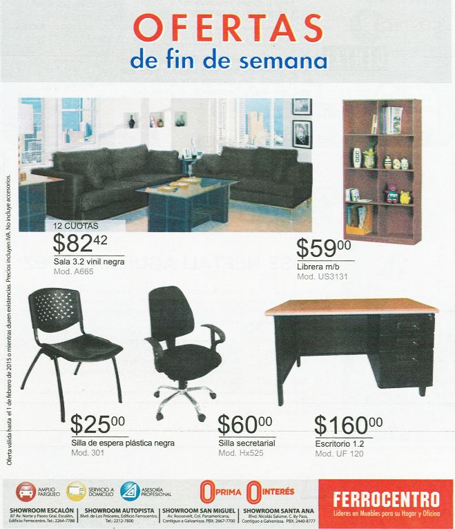 Furniture liders for home and offices FERROCENTRO - 27ene15