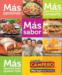 Menu de especialidades POLLO CAMPERO