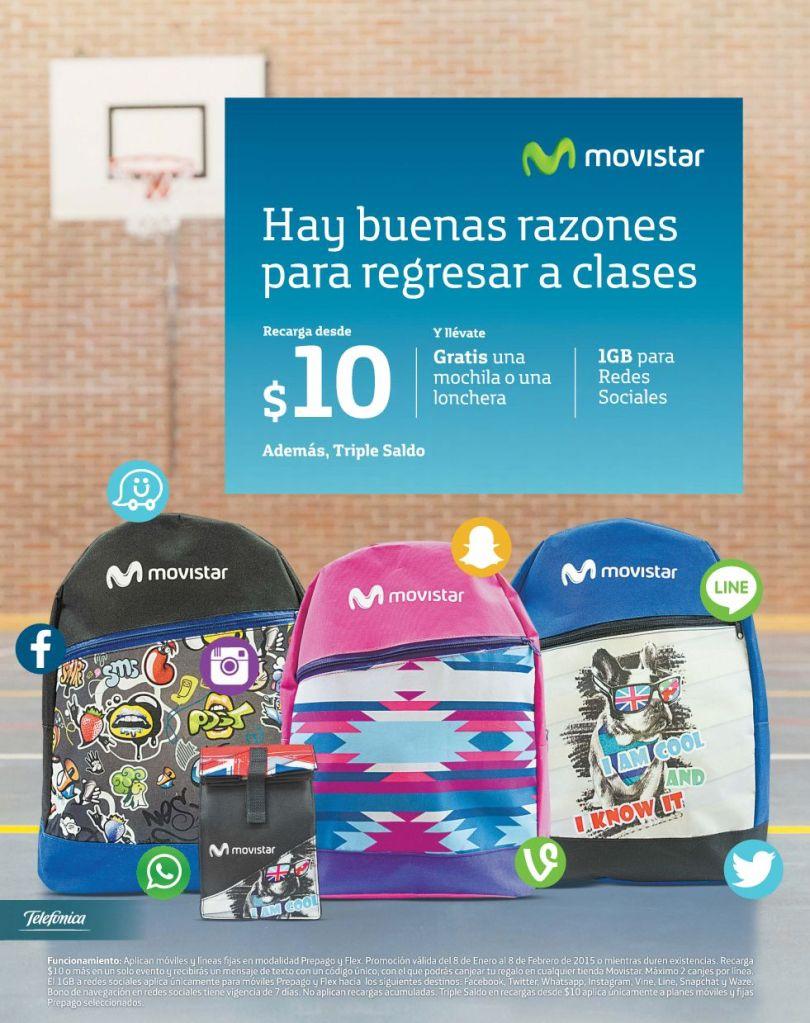 Mochilas MOVISTAR para el regreso a clases - 08ene15