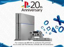 Participa en el sorteo del PS4 limited edition 20th aniversary