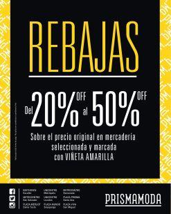 Prisma MOda inicio temporadas de rebajas 2015 - 02ene15