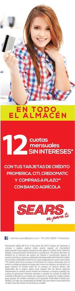 Promociones para tus compras SEARS - 10ene15