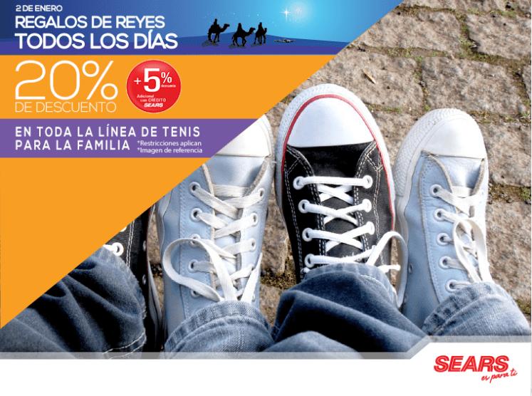 Regalo de reyes magos SEARS descuento en tenis shoes - 02ene15