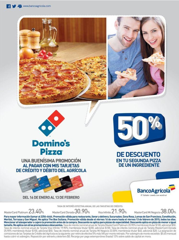 Riquisima y BUenisima PROMOCION dominos pizza - 16ene15