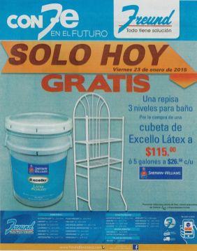 SOLO HOY gratis accesorio para tu baño FREUND - 23ene15