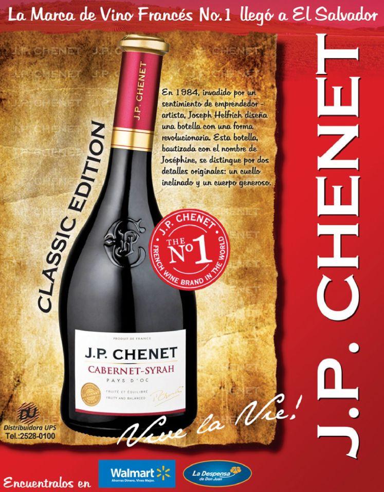 VINO frances JP CHENET cabernet syrah
