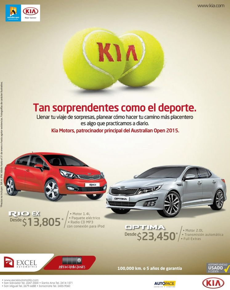australia open SPONSORED Kia motors optima