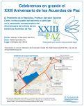cierre de calles Celebracion de los acuerdos de paz 2015