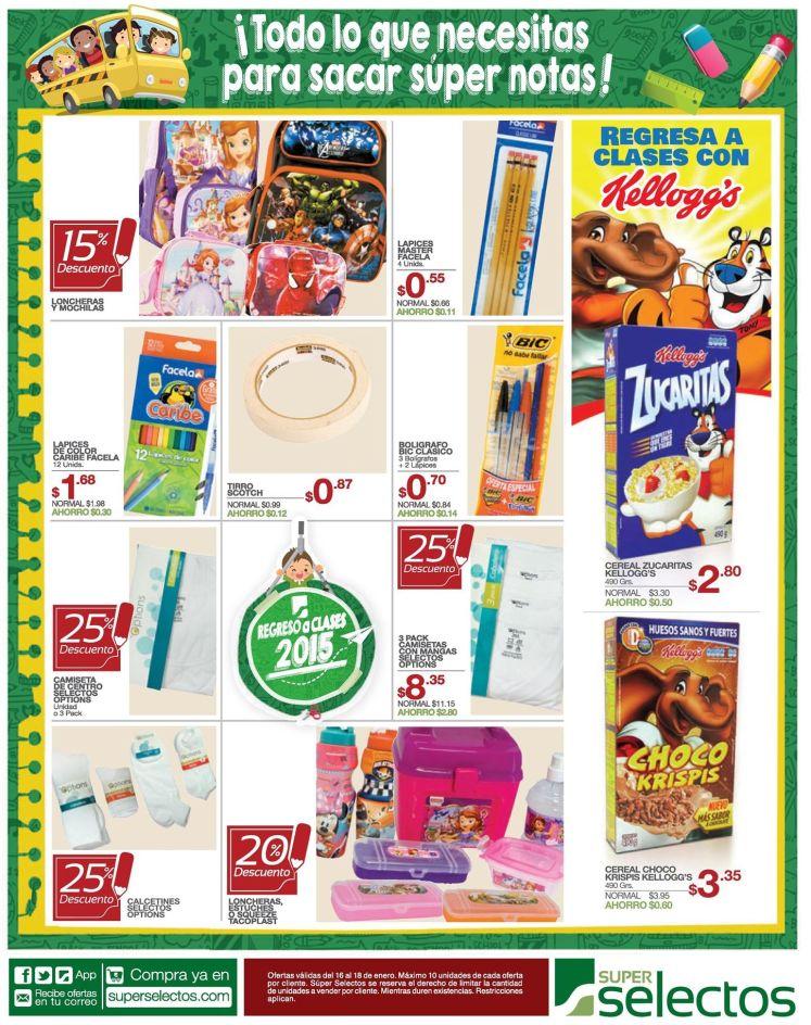 comprar utiles escolares del colegio en el selectos - 16ene15